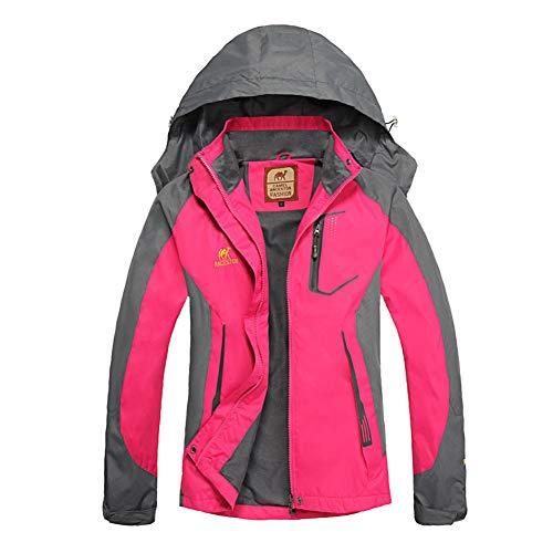 Goyajun giacca da donna - windproof cappotto impermeabile outdoor trekking alpinismo giacca a vento con cappuccio giacca