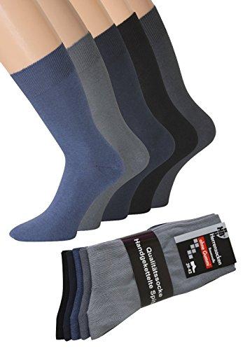 kb-Socken - 5-10 Paar Diabetikersocken Herrensocken ohne Gummi Blau Grau Schwarz Herren Socken Strümpfe Gesundheitssocken 39-42 43-46 47-50
