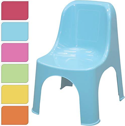 DKB Premium Kinderstuhl Gartenstuhl Kunststoff Kindermöbel Sitzgruppe 6 Farben (Grün)