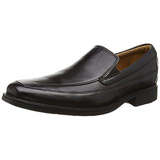 Clarks Herren Tilden Free Slipper, Schwarz (Black Leather), 46 EU