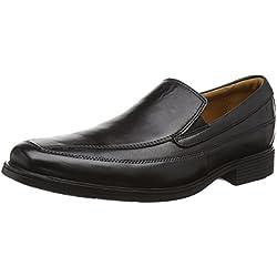 Clarks Tilden Free, Mocassini Uomo, Nero (Black Leather), 44 EU