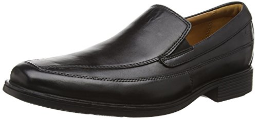 Clarks Tilden Free, Herren Slipper, Schwarz (Black Leather), 46 EU (11 Herren UK) (46 Leder Schwarz)