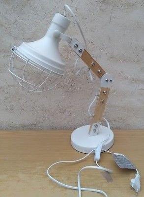 LAMPE DE TABLE OU CHEVET EN BOIS ET METAL ARCHITECTE SUR PIED ECLAIRAGE LUMIERE BUREAU ARTICULE PRO