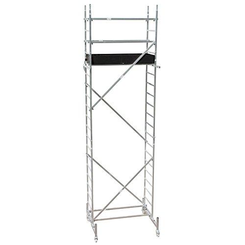 Arbeitsb/ühne Max Belastbarkeit 150 kg Anti-Rutsch Beschichtet Sotech Aluminium Arbeitsger/üst Ger/üst Mehrzweckleiter Fahrbares Ger/üst EN 131