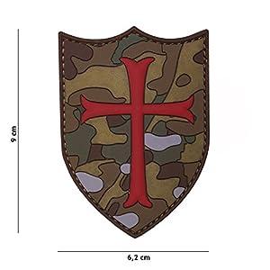 Patch 3D PVC Bouclier Croisé Multicam / Cosplay / Airsoft / Camouflage