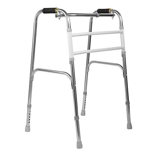 Cocoarm Gehgestell Gehrahmen Faltbare Gehhilfe Einstellbare Gehbock aus rostfreiem Stahl für ältere Menschen oder Rehabilitationstrainer geeignet Höhenverstellbar 74-83 cm (Ohne Räder)