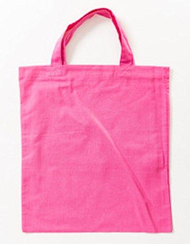 Jutebeutel kurze Henkel Farbe pink (Team Kurze)