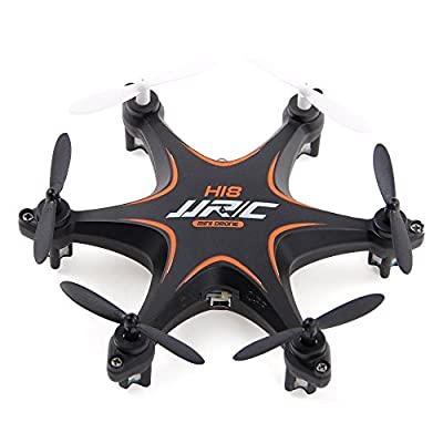 Mini 3D Roll Drone, Megadream JJRC H18 360 Degree Flips RC Quadcopter with Transmitter 2.4Ghz 4CH 6-Axis Quadcopter Toy RTF 4CH Headless Mode Quad Copter with 2.4Ghz Wireless Remote Control & LED Light for Night Flying
