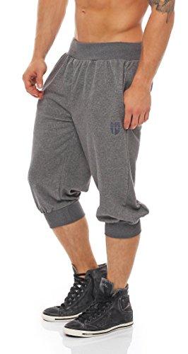 Gennadi Hoppe Herren 3/4 Trainingshose Jogginghose Bermuda Pant (XL, grau) - 3/4 Sweat