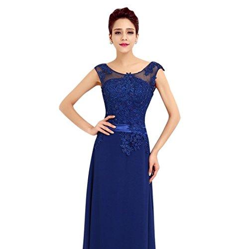 c414d280040b abito da cerimonia donna in chiffon damigella vestito lungo elegante da  festa party