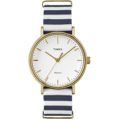 Timex Montre Bracelet Mixte à Quartz Analogique Nylon tw2p91900