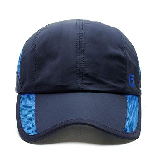 Musk online shop Kappen Adult Fashion Baseballmutze Kappen Hute Adjustable Sun Caps Trucker Cap(Dark Blue)