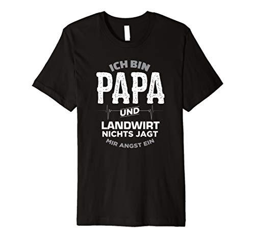 Herren Papa und Landwirt T Shirt Geschenk Vater