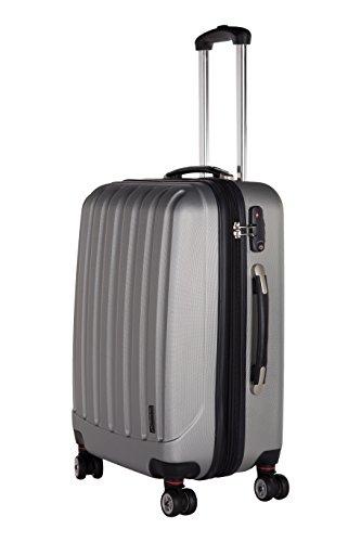 Packenger 501/24-003P-04 Koffer, 62 cm, 60 Liter, Silber