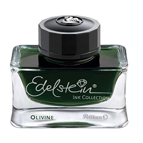 Pelikan 300674piedras preciosas Ink of the year 2018, en cristal (50ml), Olivine (verde oliva)