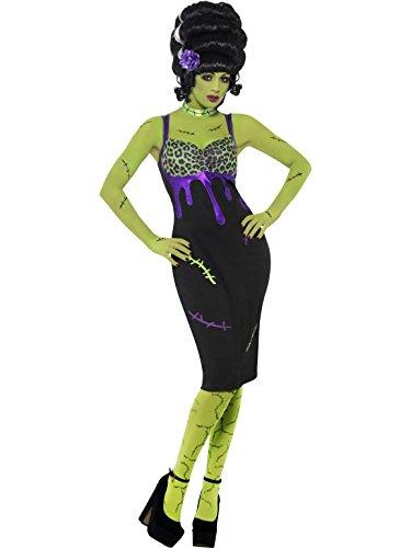 Up Frankie Pin Kostüm - Räumung Damen Horror Mädchen Halloween Prty Kostüm Outfit Kostüm mit Exklusiv Starlet Shopper Tragetasche - Pin Up Frankie Kostüm, 36-38