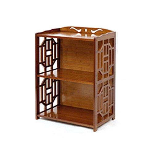 Bibliothèque Sexy 2/3/4/5-étagère Rétro Bamboo Salon Locker Simple Bookshelf Brown (Taille : 52 * 29 * 70cm)