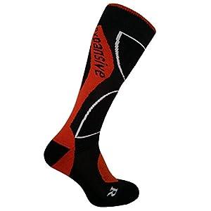 eXPANSIVE Snowboard-Socken, Größe 42-44, Orange
