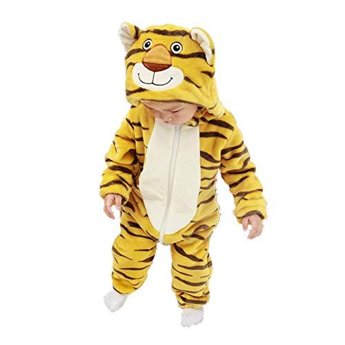 Strampler Für Jungen Mädchen Winter Hoodie Footie Infant Overall Cartoon Einteiliges Kostüm Onesie Outfit Schneeanzug Pyjama Tiger ()