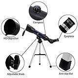 GEERTOP Teleskop Astronomische AZ Refraktor 360X50 mm mit Tischstativ Kompass für Kinder Himmel-Gaffer Vögelbeobachtern von GEERTOP