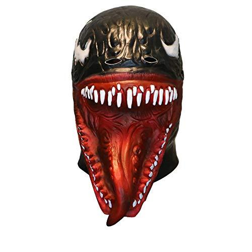 Igemy Cosplay Venom Maske Schmelzendes Gesicht Latex Kostüm Sammler Scary Maske Spielzeug ()