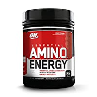 ‏‪OPTIMUM NUTRITION ESSENTIAL AMINO ENERGY, Fruit Fusion, Keto Friendly BCAAs, Preworkout and Essential Amino Acids with Green Tea and Green Coffee Extract, 65 Servings‬‏