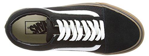 Vans Old Skool Scarpe Da Ginnastica Basse, Unisex Adulto Black (Gumsole - Black/Medium Gum)