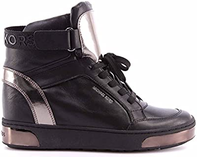 Zapatos Mujeres Sneakers Alto MICHAEL KORS Pia High Top Leather 43F6PAFE6L Black