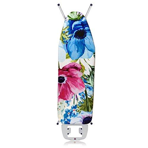 Jjonlinestore-130?cm x 50?cm medio di ricambio per asse da stiro universale cotton classic blue white - flower design