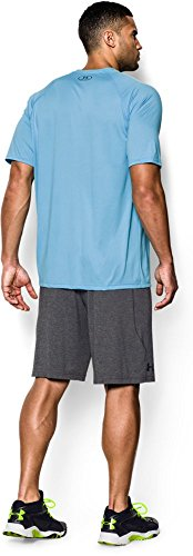 Under Armour Herren Running-Kompressionswäsche/Hose Run Compression Short Grau (Carbongrau, meliert)