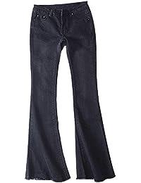 1b41edb9e152e Jeans pour Dames Élégante Lady Fashion Style Jambe Pantalon Bootcut Rétro  Large Casual Dame Jeans Pantalons