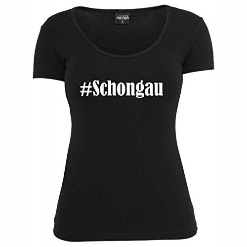 T-Shirt #Schongau Hashtag Raute für Damen Herren und Kinder ... in den Farben Schwarz und Weiss Schwarz