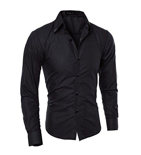 Homme Chemise de Business Classique en Coton pour Mariage Dress Shirt Men Slim