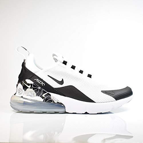 Nike Damen W Air Max 270 Se Leichtathletikschuhe, Mehrfarbig (White/Black/Metallic Silver 100), 40 EU