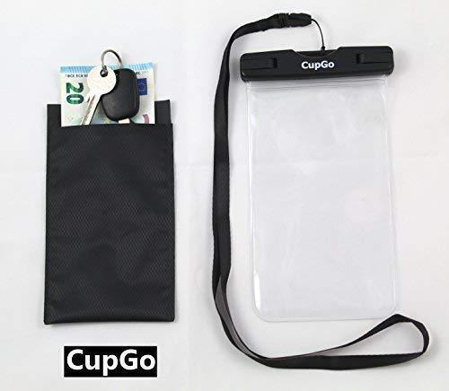 CUPGO Unterwasser Handyhülle-Handyschutz Staubdichte Handytasche Wasserfester Beachbag Wasserdicht zum Tauchen - Gut geeignet für Smartphone iPhone X 8 7 6s SE Samsung S9 S8 S7 Edge Handys bis 6 Zoll -
