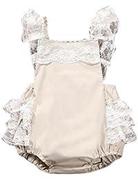 OverDose Bebé recién nacido bebé ropa de las niñas ropa de encaje Romper Cake trajes Sunsuit