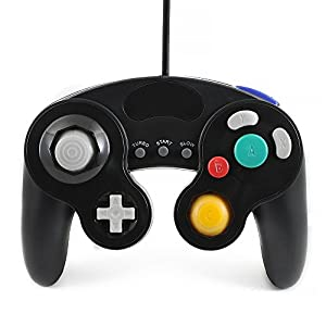 QUMOX wired classic controller joypad gamepad für nintendo gamecube gc & Wii schwarz ( Turbo Slow Funktion )