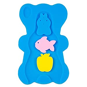 NIRVANA Comfy Foam Bath Support Baby Bath Sponge Mat Cushion Anti Bacterial & Skid Proof for Baby 1-12 mounths