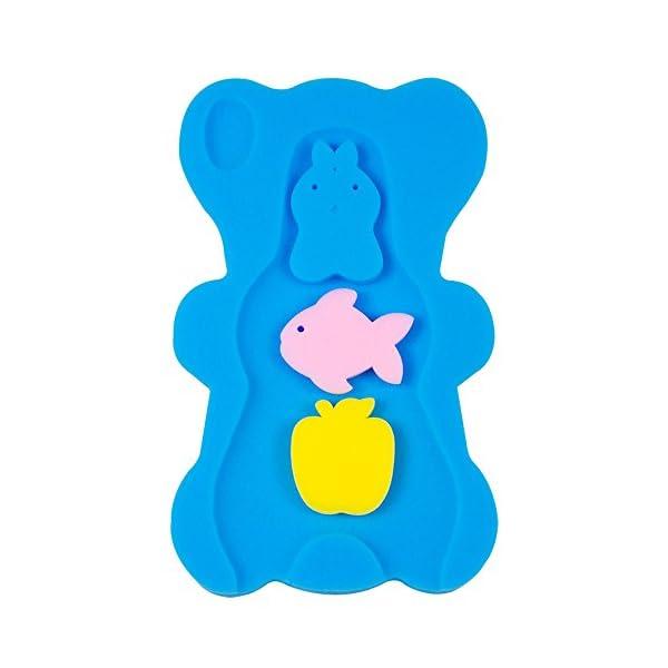 NIRVANA Comfy Foam Bath Support Baby Bath Sponge Mat Cushion Anti Bacterial & Skid Proof for Baby 1-12 mounths 1