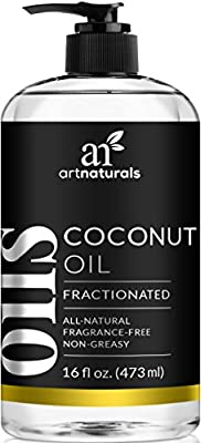 ArtNaturals Premium Fractionated Coconut Oil - 473 ml - 100% Natural & Pure – Therapeutic Grade Carrier and Massage Oil – for Hair and Skin or Diluting Aromatherapy Essential Oils by ArtNaturals