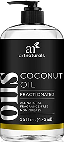 ArtNaturals Premium Fractionated Coconut Oil - 473 ml - 100% Natural & Pure – Therapeutic Grade Carrier and Massage Oil – for Hair and Skin or Diluting Aromatherapy Essential Oils