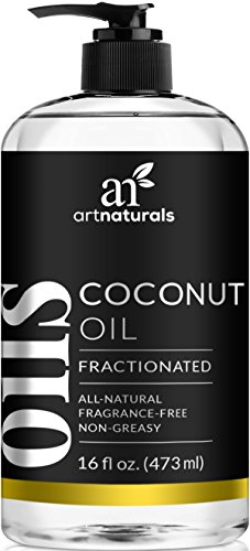 ArtNaturals Premium Fractionated Coconut Oil – 473 ml – 100% Natural & Pure – Therapeutic Grade Carrier and Massage Oil – for Hair and Skin or Diluting Aromatherapy Essential Oils