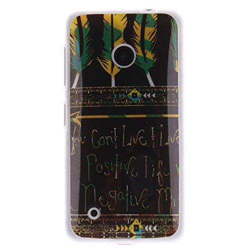 Cozy Hut ® für Nokia Lumia N530, Schutzhülle / Case / Cover / Hülle / TPU Gel Skin Colorful Pattern Bunte Muster Kunststoff Serie für Nokia Lumia N530 Hülle Beutel Pattern Print Printing Drawing Muster Druck Zeichnung mobilen Handy Abdeckung schützen Skin Case Cover - Tribal Feder