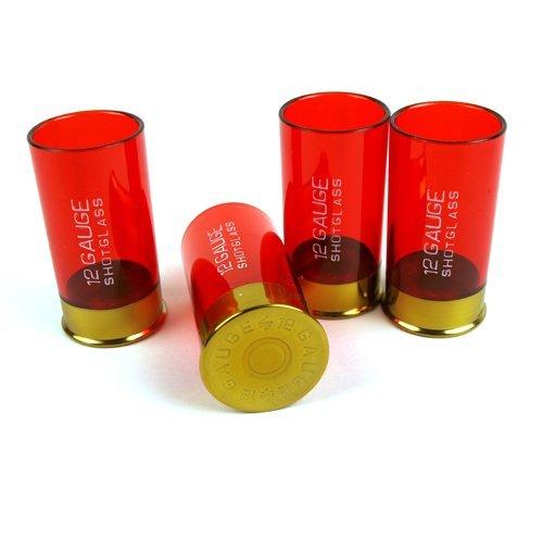 Calibro 12Shotgun bicchieri da liquore-4pezzi Pumpgun 12Gauge