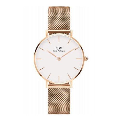 Reloj de pulsera daniel wellington dw00100163Mujer, relojes con esfera ovalada blanco y correa acero.