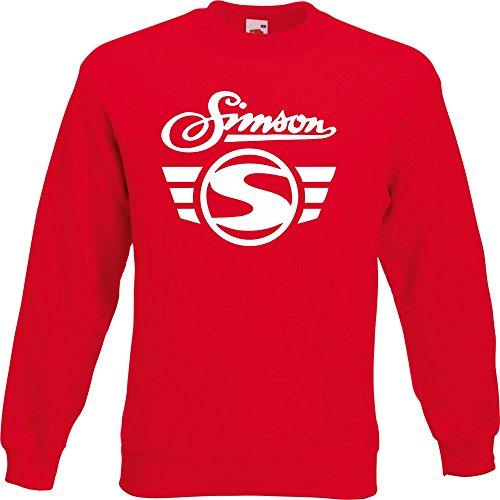 Pullover - Simson Logo + Schrift Rot