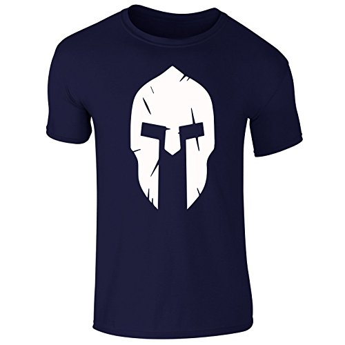 New Men's Spartan Helmet 300 Z Body Building Training Gym Wear Sports T Shirt Top Tee (X-Large) Navy (Warrior Training T-shirt)