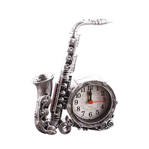 Retro Instrumento musical Saxofón Modelo Despertador