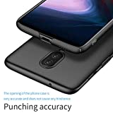 TopACE OnePlus 6T Case, OnePlus 6T Back Cover Slim Hybrid Rubberised Hard Case for OnePlus 6T Smartphone (Black)
