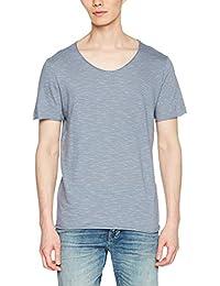 Selected Men's Slhnewmerce Stripe SS O-Neck Tee W STS T-Shirt